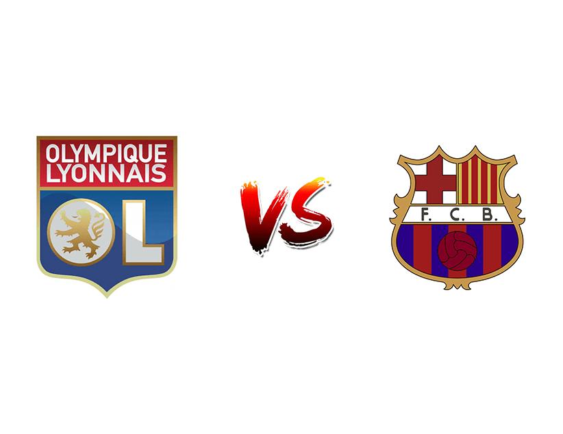 Футбол. Лига чемпионов UEFA. Лион — Барселона