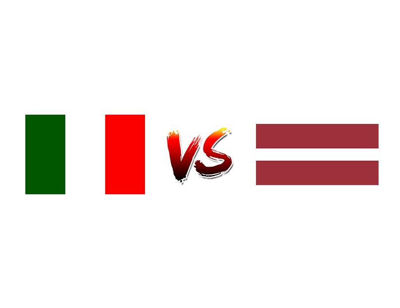 Хоккей. ЧМ. Сборная Италии — Сборная Латвии
