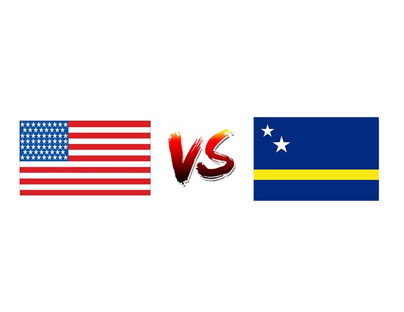 Футбол. Золотой кубок CONCACAF. 2019. США. Плей-офф. 1/4 финала. Сборная США — Сборная Кюрасао