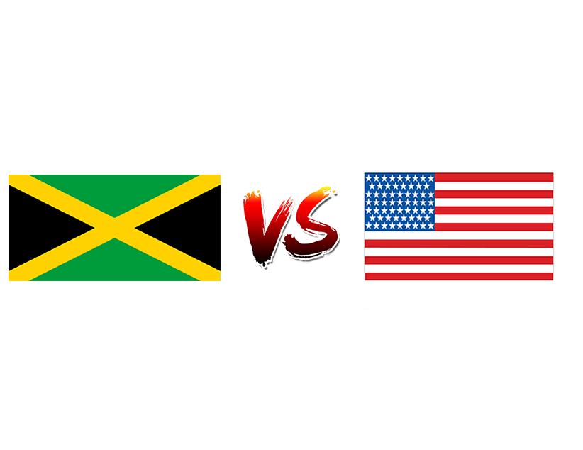 Футбол. Золотой кубок CONCACAF. 2019. США. Плей-офф. 1/2 финала. Сборная Ямайки — Сборная США